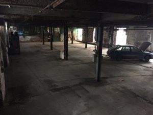 Cutlery Works Sheffield Before Refurbishment Empty Hall With Car