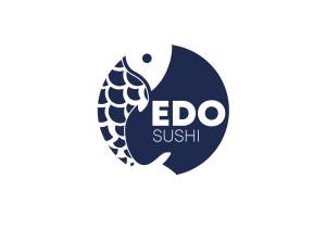 edo sushi logo in blue