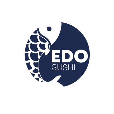 edo sushi logo in blue